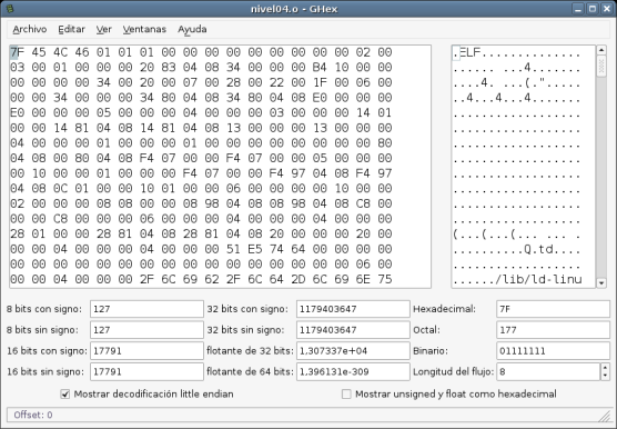 Editor Hexadecimal GHex