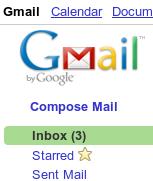 Gmail 3 mensajes nuevos en el inbox
